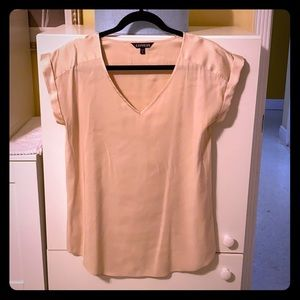 Express Satin Capped Sleeve Top